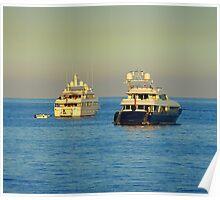 Anchored Off Cap Ferrat Poster