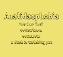 Anatidaephobia - The fear that somewhere, somehow, a duck is watching you by SlubberBub