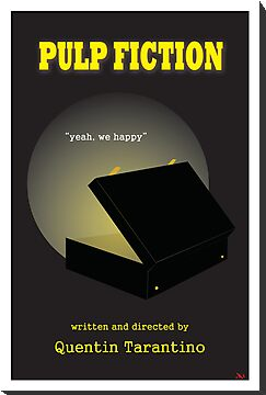 Pulp Fiction Minimalist Movie Poster by Dan Koskie