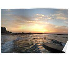 Tel Aviv Pier at Sunset Poster