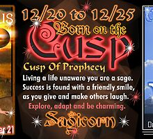 Born on Cusp of Sagittarius Capricorn zodiac Cusp   by Valxart