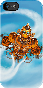 Happy Steampunk Robot by Jason Piperberg