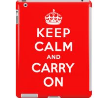 KEEP CALM AND CARRY ON (BLACK) iPad Case/Skin