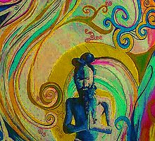 """Blue Yogi 1"" by Kevin J Cooper"