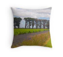 Windbreak, Asparagus Farm, Cardinia, Gippsland, Victoria. Throw Pillow