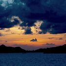 sunset in the Caribbean by supergold