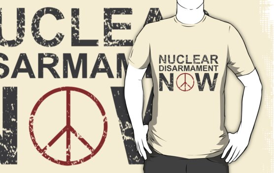 "Vintage Style ""Nuclear Disarmament Now"" T-Shirt by Jessica Morgan"