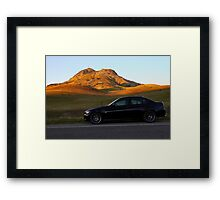 My E90 at the Buttes Framed Print