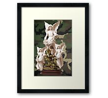 ✌☮  BLESS OUR SOLDIER'S PRESENCE OF ANGELS✌☮  Framed Print