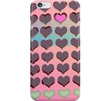 Hearts on pink - pattern iPhone Case/Skin