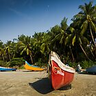 Boats on the Beach by AjayP