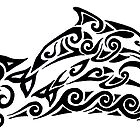 Dolphin Tribal Tattoo by Rebecca Postanowicz
