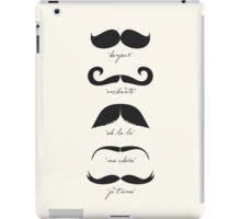 Monsieur Moustache iPad Case/Skin