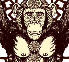 Chakra Monkey Tonight Sticker