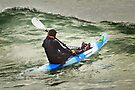 Surfski Paddling at Bells Beach by Darren Stones
