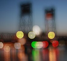 The Clyde River Bridge ~ at night by Emma  Wertheim