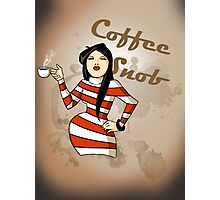 Coffee Snob Photographic Print