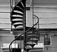 Spiral Staircase - Alcatraz Island, San Francisco by Phil McComiskey