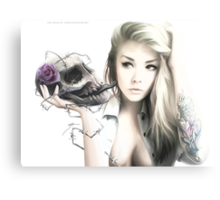 Girl With The Skull Canvas Print