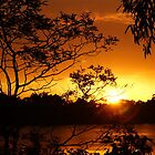 Nubeena fiery sunset - Nubeena, Tasmania, Australia by PC1134