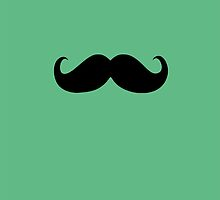 Funny Black Mustache 3 by Nhan Ngo