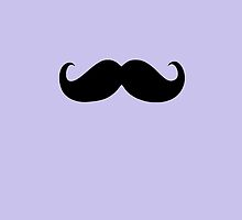 Funny Black Mustache 5 by Nhan Ngo