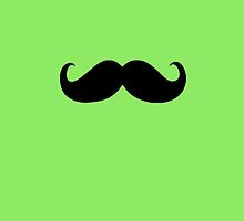 Funny Black Mustache 8 by Nhan Ngo