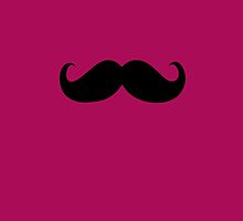Funny Black Mustache 12 by Nhan Ngo