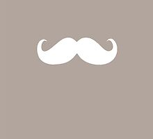 Funny white mustache 20 by Nhan Ngo