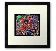 Chakra Healing Black Ligth Framed Print