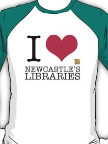 I Love Newcastle Libraries T-Shirt