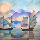 Shades of Tranquility - Cubist Junks by taiche