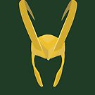 Loki&#x27;s Helmet by fangirlshirts