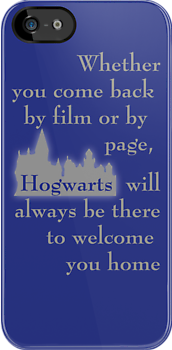 Hogwarts is our Home - Ravenclaw colors (movie version) by bsbrock