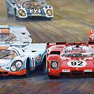 Ferrari vs Porsche 1970 Watkins Glen 6 Hours by Yuriy Shevchuk