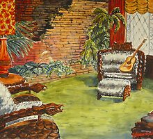 Elvis' Jungle Room by Virginia  Coghill