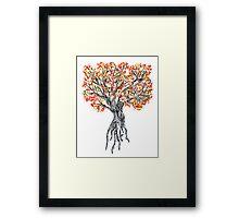 Sprinke Tree Framed Print