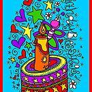 Birthday Blessings (on blue) by Sammy Nuttall