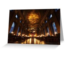 Painted Hall, Old Royal Naval College, Greenwich Greeting Card