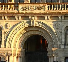 Arched Doorway of Victoria Parliament by dbvirago