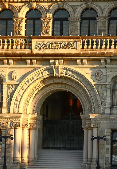 Arched Doorway of Victoria Parliament by dbvirago