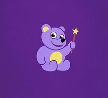 Purple Teddy Bear Fairy Kids IPhone Case by Boriana Giormova