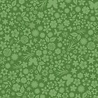 Flower & Butterfly Pattern - Green by chayground