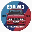 BMW E30 M3 25th Anniversary Roundel - Red Sport Evo by Sharknose