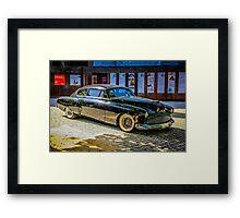 Black 1950s Custom American Car Framed Print