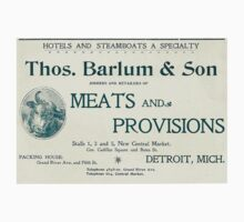 Barlum & Son Provisions Supplier Ad 1880 Detroit by The Detroit Room