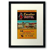 Vintage Cavalier Motel Detroit Ad Framed Print