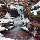 Winter Still Has Its Grip On Adams Falls by Gene Walls