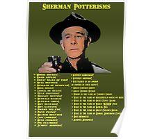 Sherman Potterisms Poster