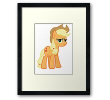 Applejack is not amused no text Framed Print